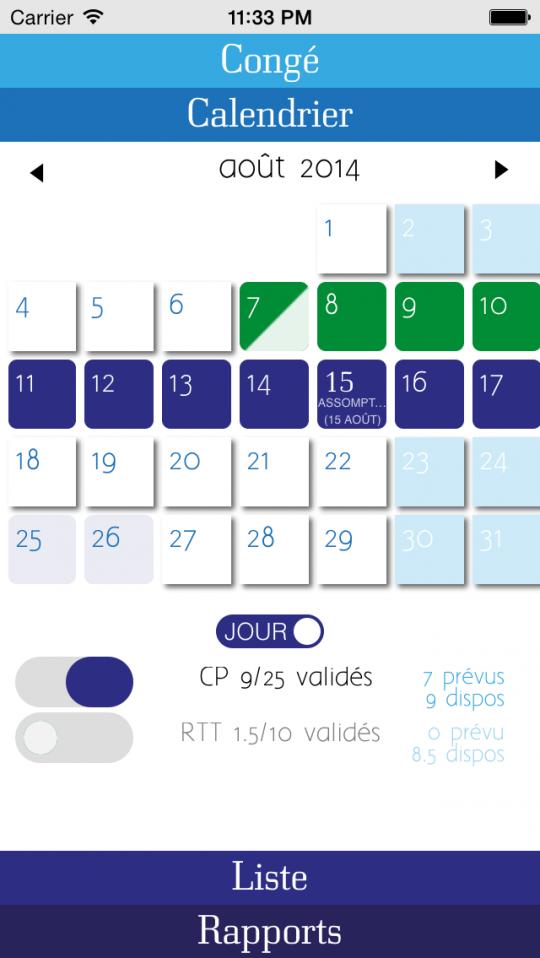 Apps freshout cong for Demenagement jour de conge